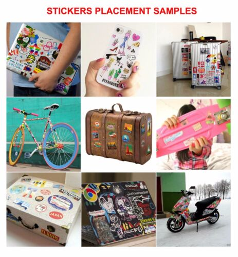 280 vinyl stickers for car skateboard penny board laptop music instrument
