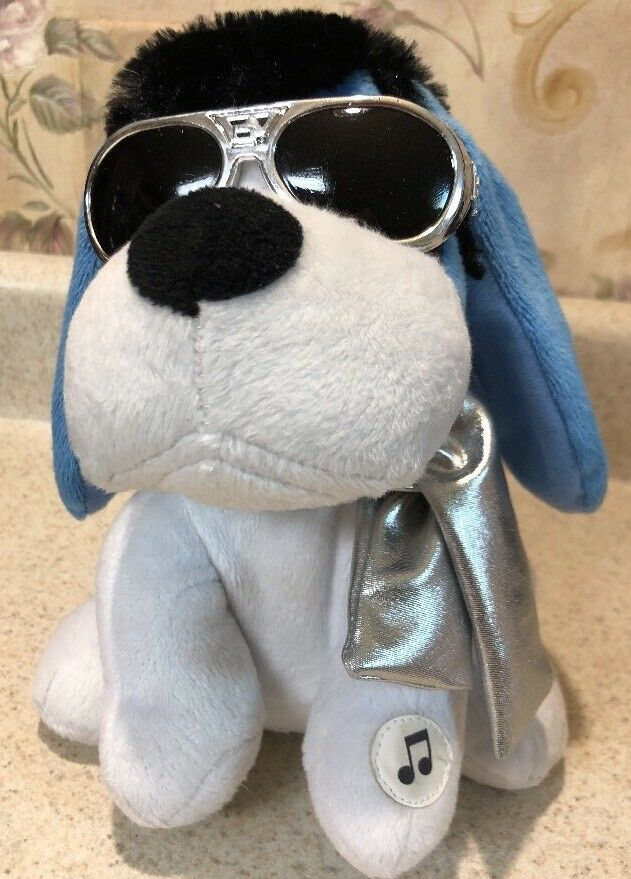 RARE ELVIS Animated Ear Flappin Blau Hound Hund Sunglass Sings Blau Christmas New