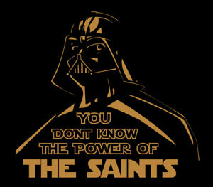 Details about Darth Vader New Orleans Saints Power shirt Star Wars Who Dat  Drew Brees Football