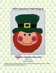 Leprechaun-St. Patrick's Day-Wall Hanging Plastic Canvas ...