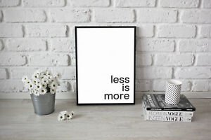 Motivational-inspirational-quote-Poster-Print-Picture-Wall-Art-Less-is-More