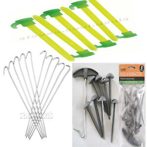 Summit Tent Awning Accessory Set Camping Guy Ropes Mallet Pegs Peg Extractor