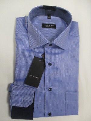 ETERNA Comfort Fit Hemd 3118//56//E15K Bordeaux strukturiert  mit Patches ÄL:65