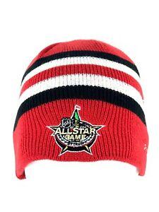 NHL Hockey Red All Star Game Ottawa Patch Beanie Stocking Hat Cap