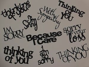 10 sympathy im sorry think of you words greeting card die cuts image is loading 10 sympathy i 039 m sorry think of m4hsunfo