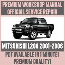 *WORKSHOP MANUAL SERVICE & REPAIR GUIDE for MITSUBISHI L200 2001-2005