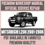 WORKSHOP-MANUAL-SERVICE-amp-REPAIR-GUIDE-for-MITSUBISHI-L200-2001-2005 thumbnail 1