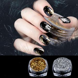 063cc4f2575f6 Details about Decor Nail Art Glitter Irregular Pigment Flakes Sequins Magic  Mirror Powder Tool