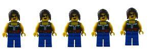 LEGO-5-x-PIRATA-FEMMINILE-PIRATA-MINIFIGURA-NUOVO-donna-Pirates-pi101