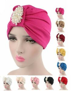 Fashion Indian Style Turban Chemo Scarf Hijab Cap Muslim Cover Bowknot Headscarf