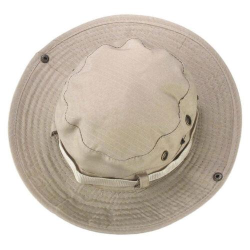 Mens Bucket Hat Boonie Outdoor Hunting Fishing Cap Canvas Wide Brim Sun Hat Gift