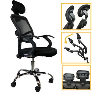 Stuhl Sessel Büro Presidential Direktionale Ergonomische Stoff Schwarz