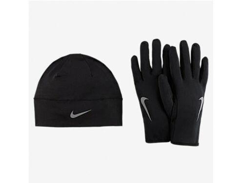 Nike Dry Womens Hat and Glove Set Black 129862 New