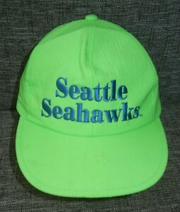 SEATTLE SEAHAWKS Bright Neon Green NFL FOOTBALL HAT Team Snapback ... 37ac54b1c