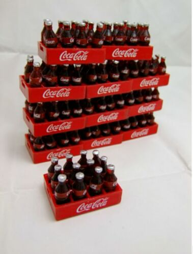 6 SET COKE COLA SOFE COKE BOTTLE AND crate set dollhouse miniature Free Shipping
