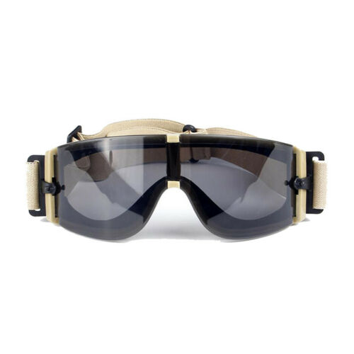 Ballistic X800 Army Safety Goggles 3 Lens Kit Military Sunglasses Night Vision