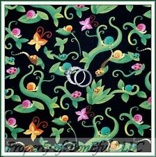 Magic Garden Ladybug Butterfly Small Blocks SPX Fabric by the 1//2 Yard  #22428