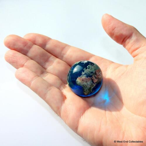 Detaillierte Glas Welt Space Orrery Orb Riese 35mm Planet Earth Globus Marble