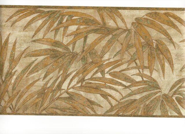 ORIENTAL ASIAN VAN LUIT 13.5 Gold ANTIQUE Wallpaper bordeR Wall