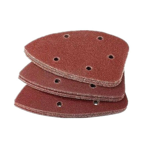 14x9cm Sanding Palm Sheet 50x Sander Pads Polish Sandpaper Grit Abrasive Discs
