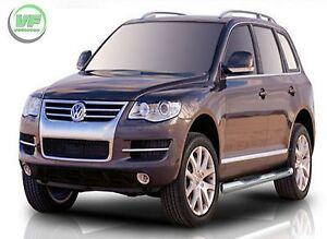 Para VW Touareg 2002-2010 cromo alfombrilla de barra de barra de popa moldura de acero inoxidable