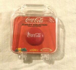 Vintage Coca Cola Jewelry Collection Brooch Set Collectible