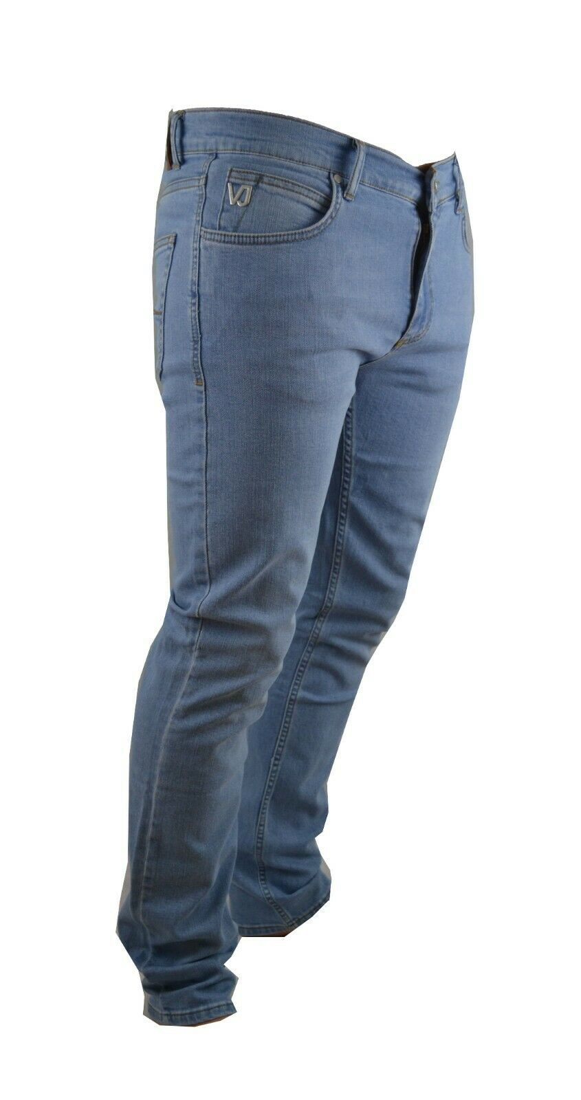 BNWT VERSACE JEANS STRETCH LIGHT Blau COMFORT STRETCH SLIM SLIM SLIM FIT METAL VJ LOGO 276790