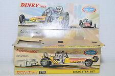 DINKY TOYS 370 DRAGSTER SET ORIGINAL EMPTY BOX NEAR MINT