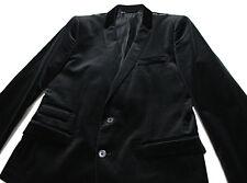 $1511 Italy DOLCE & GABBANA Black-Velvet Smoking Short Blazer Jacket 50 40 Large