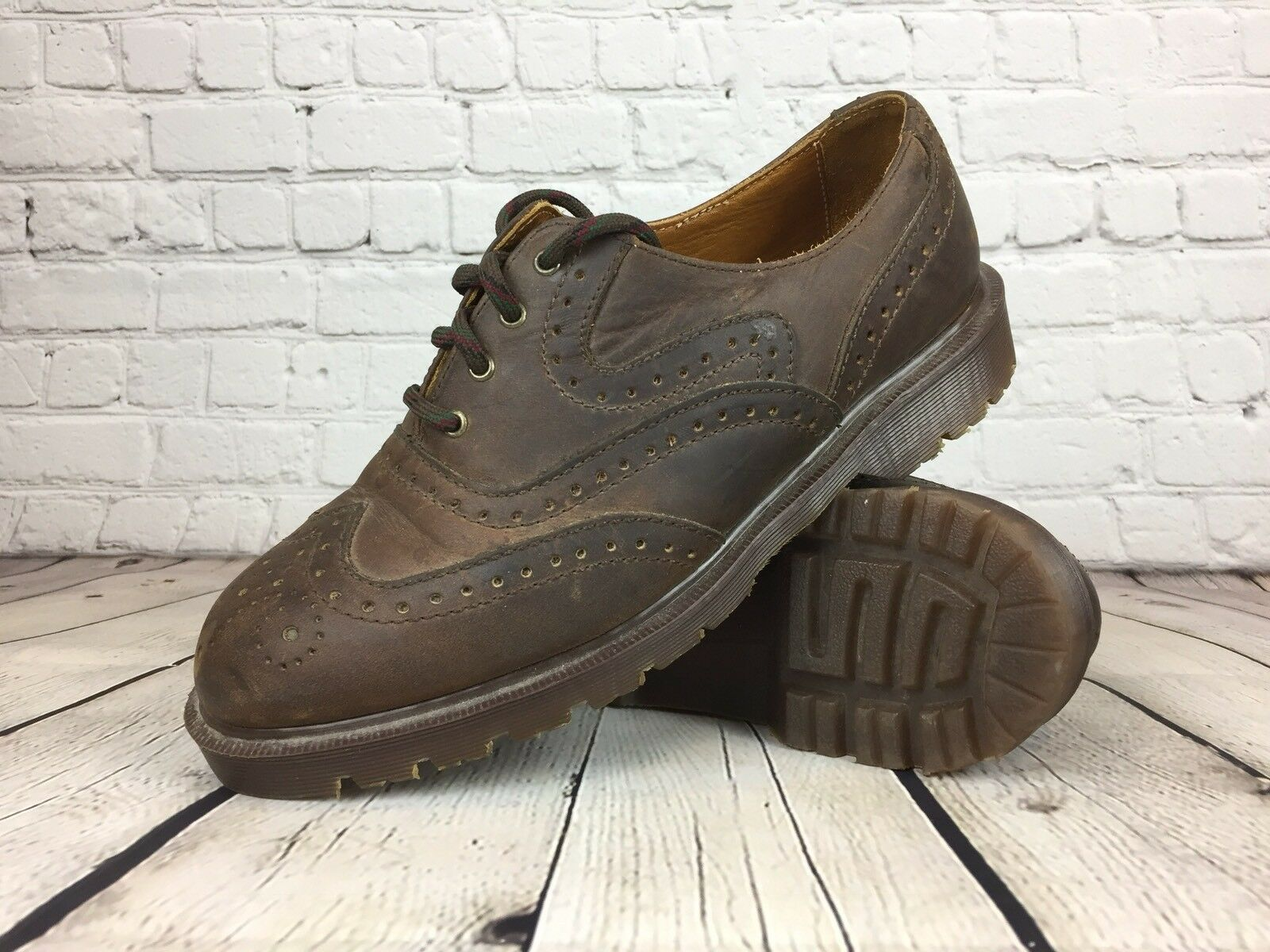 Dr. Martens Air Cushion Brown Leather shoes Size 8 England  Model 8123