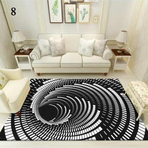 3D Printed Round Vortex Illusion Living Room Rug Carpet Floor Door Mat Anti-slip