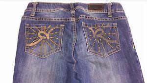 Rocawear-Hannah-Skinny-Jeans-Juniors-5-Ankle-Zip-Stones-30-x-28-Actual-Pants