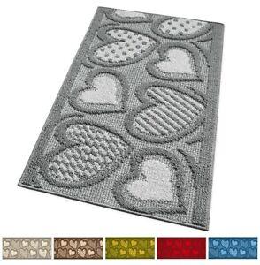 Tappeto-cucina-antiscivolo-tessitura-3D-cuori-morbido-passatoia-bordata-multiuso