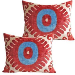 Image Is Loading Silk Velvet Accent Pillows Set Of 2