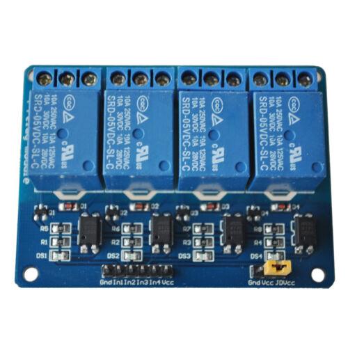 4 Kanal 5V Relay Relais Module Modul fuer Arduino TTL-Logik X8G3