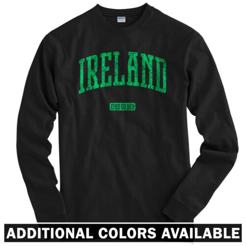 Youth Ireland Long Sleeve T-shirt LS Eire Go Deo Forever Dublin Galway Men