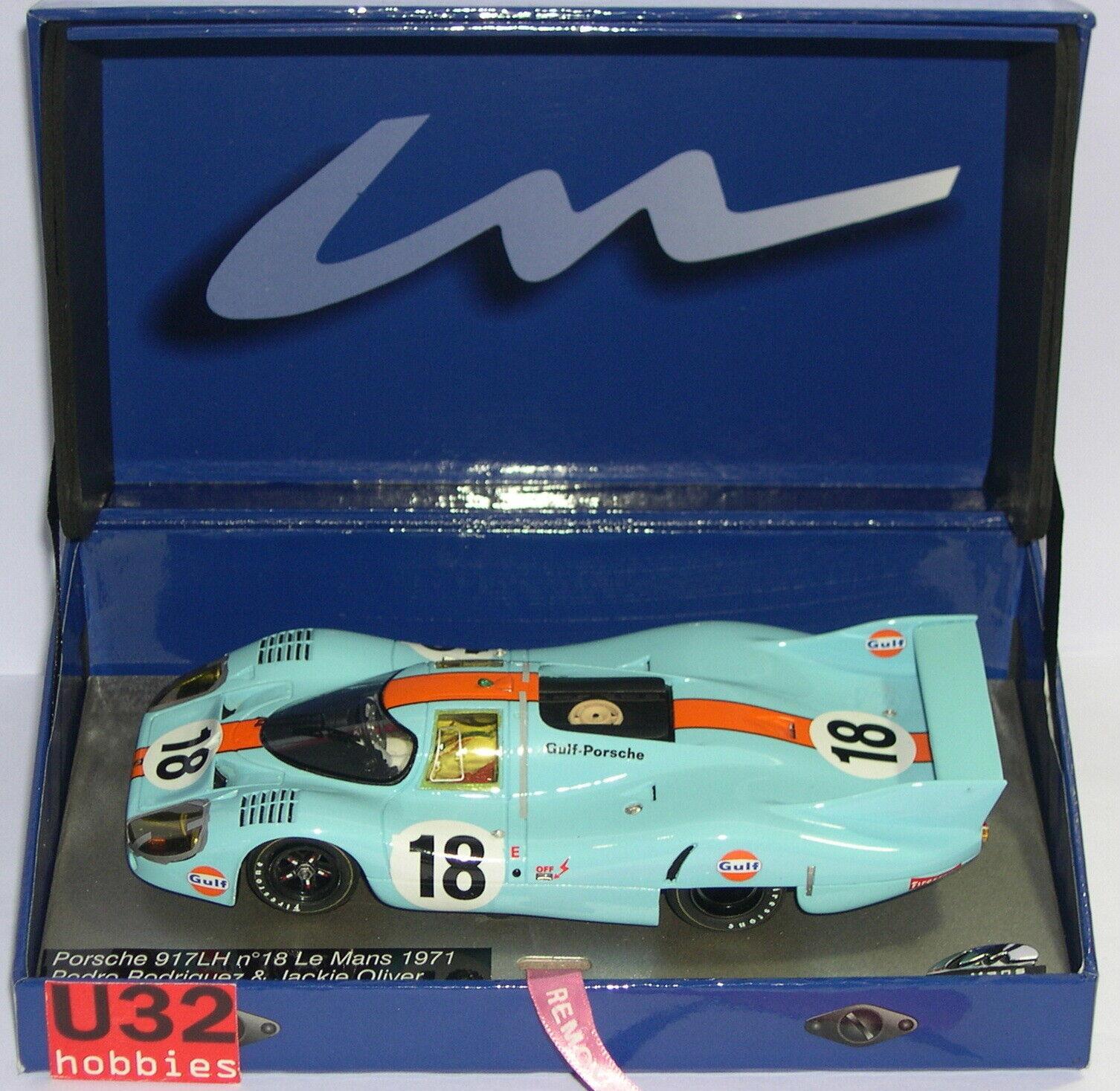 Le Mans Miniaturen 132071 18m Porsche 917lh  18 Le Mans 1971 Gulf P.Rodriguez