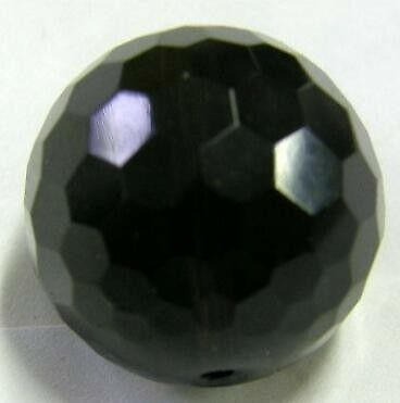 7118 14 mm Onyx balle, percés, à facettes