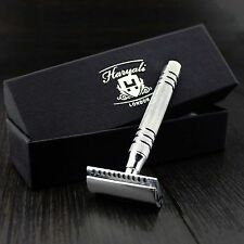 Men's Vintage Safety Razor Made In Stainless Steel + 5 Blades.Perfect For All