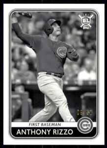 2020-Big-League-Base-Black-amp-White-72-Anthony-Rizzo-50-Chicago-Cubs