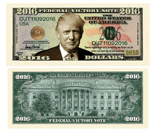 200 Donald Trump President Money Fake Dollar Bills 2016 Federal Victory Note Lot