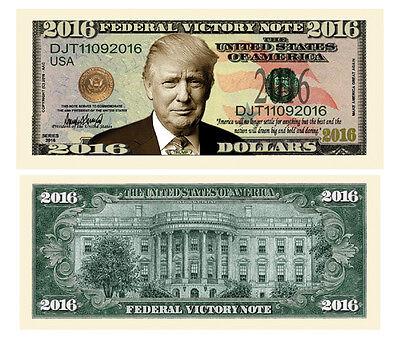 25 Donald Trump President Money Fake Dollar Bills 2016 Federal Victory Note Lot
