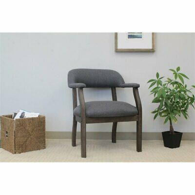 Awe Inspiring Boss Refined Rustic Accent Chair In Slate Gray Commercial Grade Linen 751118954029 Ebay Gmtry Best Dining Table And Chair Ideas Images Gmtryco