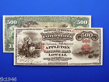 Reproduction $500 1865 National Bank Note US Paper Money Currency Copy