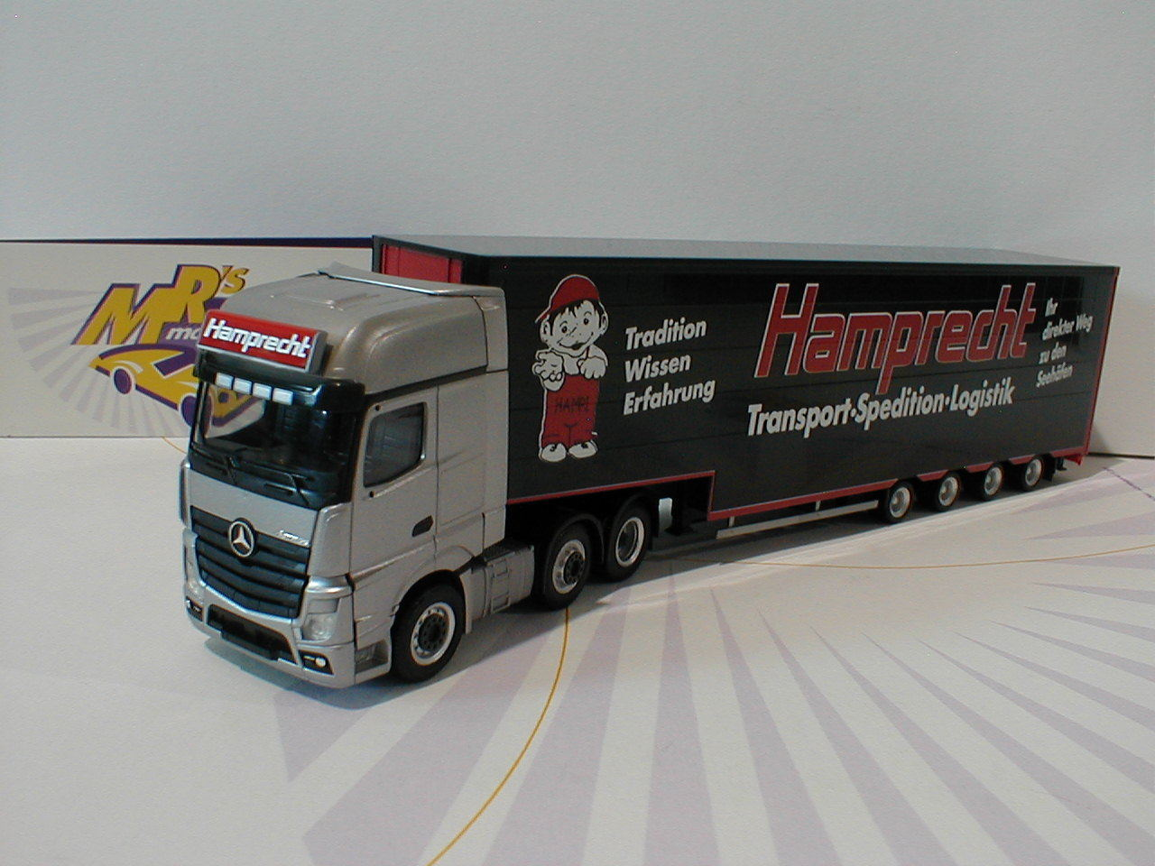 Herpa 308250 - Mercedes Actros Gigaspace Sattelzug Spedition   Hamprecht   1 87