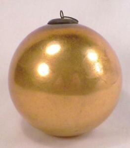 Details About Antique Kugel Christmas Ornament Gold Ball Mercury Glass German 3 75in 107