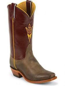 Nocona-LDASU22-Women-039-s-Arizona-State-Tan-Vintage-Maroon-Branded-College-Boots