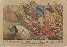 """CHROMO """"Au Bon Marché"""" = L'EMPRUNT DE LA LIBERATION + affiche Abel FAIVRE"""