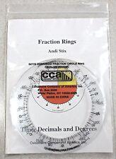 Set Of 3 NEW Vintage Fraction Rings Time / Decimals / Degree Andi Stix - estate