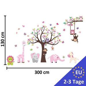 Details zu Wandtattoo Kinderzimmer XXL Baum Tieren Kinder Junge Baby  Wandsticker Aufkleber